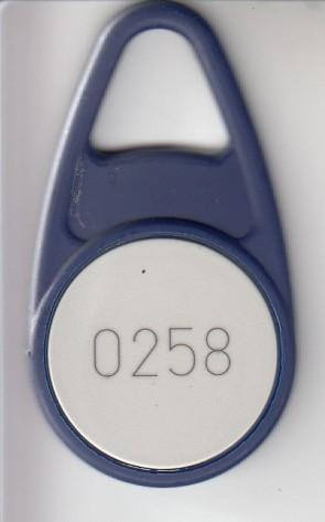 EM 4102 Schlüsselanhänger, Bauform B, blau ( 36 Stück)