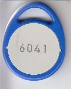 Hiitag 1 Schlüsselanhänger, Bauform A, blau (460 Stück)