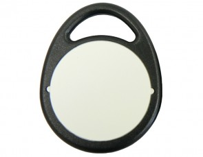 Hitag 1 Schlüsselanhänger, Bauform A, schwarz (10 Stück)