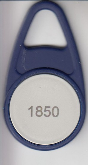 Hitag 1 Schlüsselanhänger, Bauform B, blau (100 Stück)