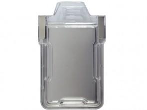 Hochformat Tragehülle für RFID-Ausweis mit speziellem RFID-Schutz Frontansicht