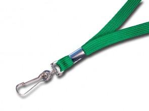 Flachband Lanyard L1 grün mit Simplexhaken 10cm breit