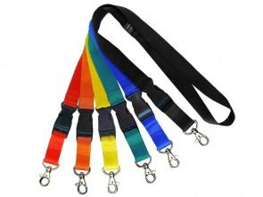 Flachband Lanyard L2 (10 / 15 / 20 / 25 mm) diverse Farben mit Steckschnalle
