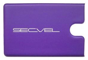 SECVEL Kartenschutzhuelle für 1 Karte lila