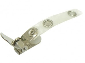 Bandclip Spezial Extra-Qualität gewebeverstärkte Lasche geöffnet