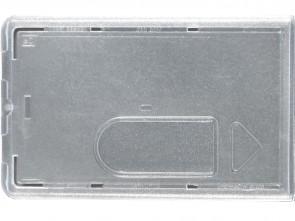 Schutzhülle aus Hartplastik transparent mit Daumenausschub