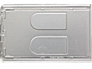 Schutzhülle transparent mit Daumenschlitzen für 2 Ausweise